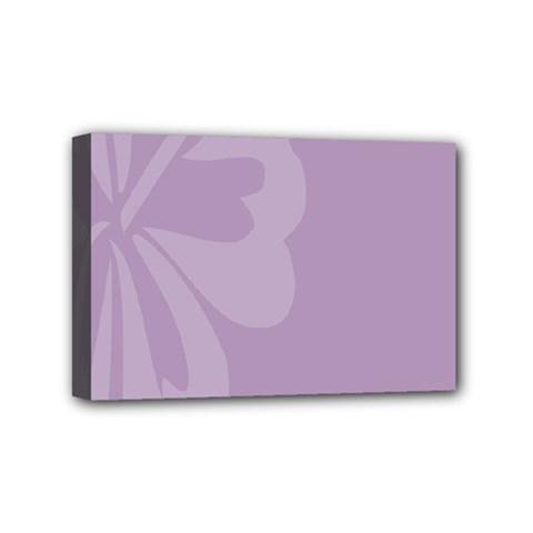 Hibiscus Sakura Lavender Herb Purple Mini Canvas 6  x 4