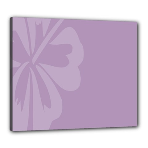 Hibiscus Sakura Lavender Herb Purple Canvas 24  x 20