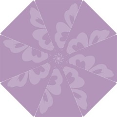 Hibiscus Sakura Lavender Herb Purple Hook Handle Umbrellas (Large)