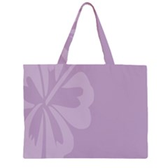 Hibiscus Sakura Lavender Herb Purple Large Tote Bag