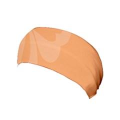 Hibiscus Sakura Tangerine Orange Yoga Headband