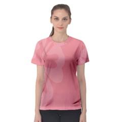 Hibiscus Sakura Strawberry Ice Pink Women s Sport Mesh Tee