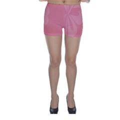 Hibiscus Sakura Strawberry Ice Pink Skinny Shorts