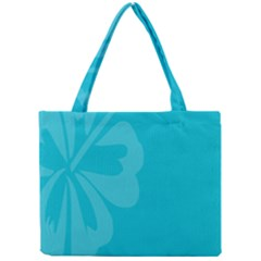 Hibiscus Sakura Scuba Blue Mini Tote Bag