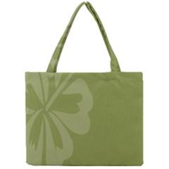 Hibiscus Sakura Woodbine Green Mini Tote Bag