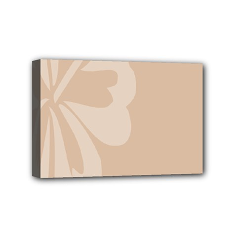 Hibiscus Sakura Toasted Almond Grey Mini Canvas 6  x 4