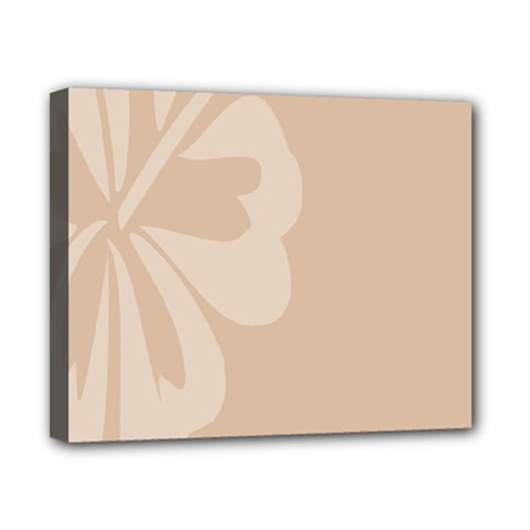 Hibiscus Sakura Toasted Almond Grey Canvas 10  x 8