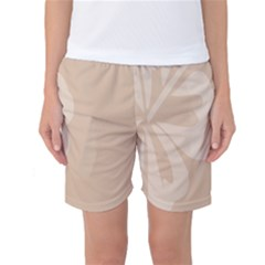 Hibiscus Sakura Toasted Almond Grey Women s Basketball Shorts