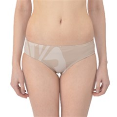 Hibiscus Sakura Toasted Almond Grey Hipster Bikini Bottoms