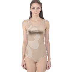 Hibiscus Sakura Toasted Almond Grey One Piece Swimsuit