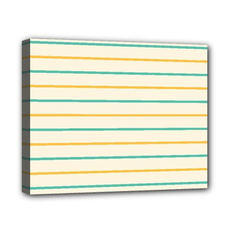 Horizontal Line Yellow Blue Orange Canvas 10  x 8