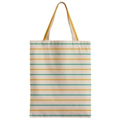 Horizontal Line Yellow Blue Orange Zipper Classic Tote Bag