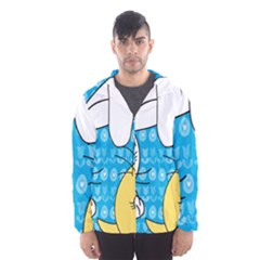 Easter bunny and chick  Hooded Wind Breaker (Men)