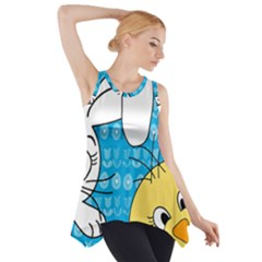 Easter bunny and chick  Side Drop Tank Tunic