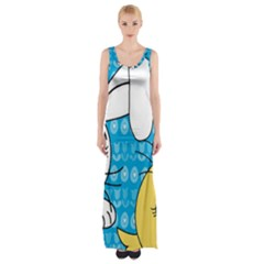 Easter bunny and chick  Maxi Thigh Split Dress