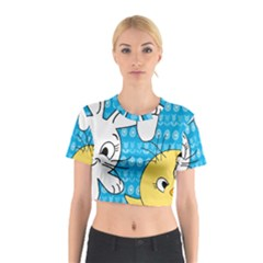 Easter bunny and chick  Cotton Crop Top