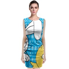Easter bunny and chick  Classic Sleeveless Midi Dress