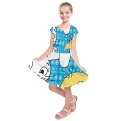 Easter bunny and chick  Kids  Short Sleeve Dress