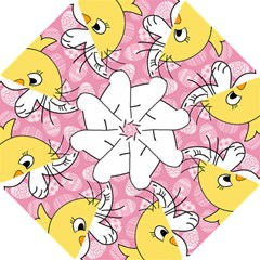 Easter bunny and chick  Hook Handle Umbrellas (Small)