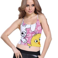 Easter bunny and chick  Spaghetti Strap Bra Top