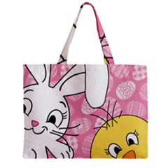 Easter bunny and chick  Zipper Mini Tote Bag