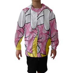 Easter bunny and chick  Hooded Wind Breaker (Kids)