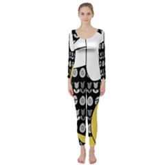 Easter bunny and chick  Long Sleeve Catsuit
