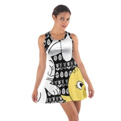Easter bunny and chick  Cotton Racerback Dress