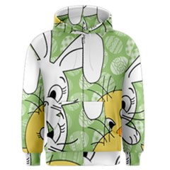 Easter bunny and chick  Men s Zipper Hoodie