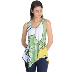 Easter bunny and chick  Sleeveless Tunic