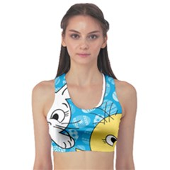 Easter bunny and chick  Sports Bra