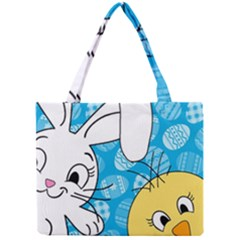 Easter bunny and chick  Mini Tote Bag