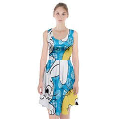 Easter bunny and chick  Racerback Midi Dress