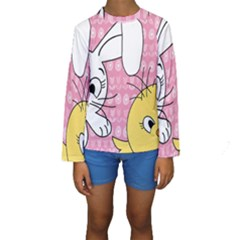 Easter bunny and chick  Kids  Long Sleeve Swimwear