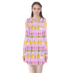 Easter - chick and tulips Flare Dress