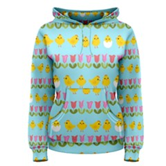 Easter - chick and tulips Women s Pullover Hoodie