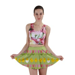 Easter - chick and tulips Mini Skirt