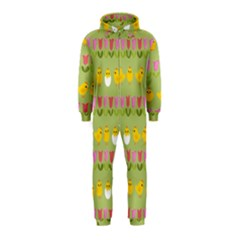 Easter - chick and tulips Hooded Jumpsuit (Kids)