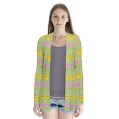 Easter - chick and tulips Cardigans