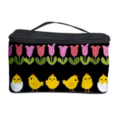 Easter - chick and tulips Cosmetic Storage Case