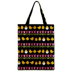 Easter - chick and tulips Zipper Classic Tote Bag