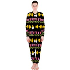 Easter - chick and tulips OnePiece Jumpsuit (Ladies)