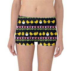 Easter - chick and tulips Reversible Bikini Bottoms