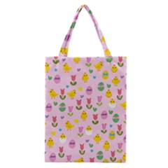 Easter - chick and tulips Classic Tote Bag