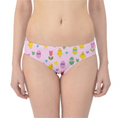 Easter - chick and tulips Hipster Bikini Bottoms