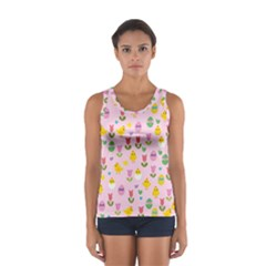 Easter - chick and tulips Women s Sport Tank Top