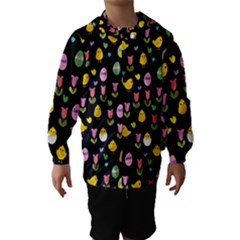 Easter - chick and tulips Hooded Wind Breaker (Kids)