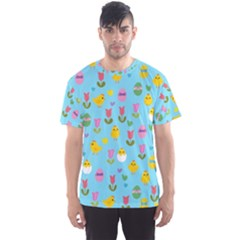 Easter - chick and tulips Men s Sport Mesh Tee