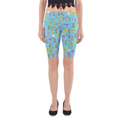 Easter - chick and tulips Yoga Cropped Leggings