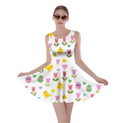 Easter - chick and tulips Skater Dress
